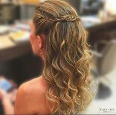 penteado semi preso com tranca pra segurar os cabelos