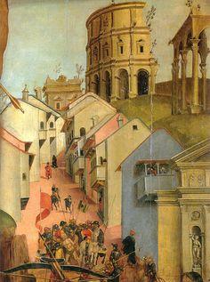 Luca Signorelli, Martirio di San Sebastiano (detail), Palazzo Vitelli alla Cannoniera, Città di Castello
