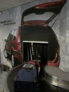 Out-of-Home Media . Outdoor Advertising Blog . Ambient Ads: Ford Fusion Creative Spin on Airport Advertising
