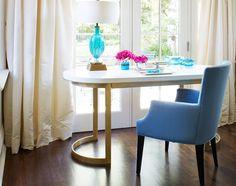 THE COCO DESK - LACQUERED WHITE | Plum Furniture