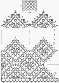 Вязания крючком Шаблоны: Занавес - Вязание Pattern