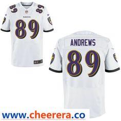 6939d006b78 Men's Baltimore Ravens #89 Mark Andrews White Road Stitched NFL Nike Game  Jersey
