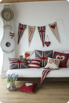 Jan Constantine's Pop Art Collection of union jack soft furnishings and accessories