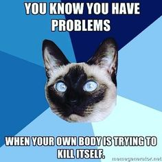 You know you have #autoimmune #thyroid problems when your body is trying to kill itself #gravesdiseasesucks  #hyperthyroidism
