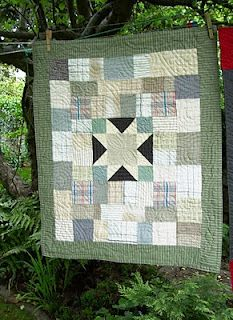 Based on an old quilt made of bits of blanket.