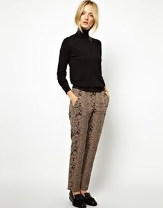 Whistles Python Jacquard Tailored Trousers