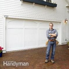 Transform your old garage door into a traditional carriage-house garage door! A perfect weekend project.