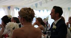 Our wedding in Cornwall - listening to speaches