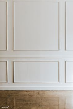 White wall with a brown marble floor Floor Furniture Wall Molding, Marble Floor, Wall Trim, Walls Room, Modern Wall Paneling, Bedroom Wall, White Wall Paneling, White Walls, Panel Moulding