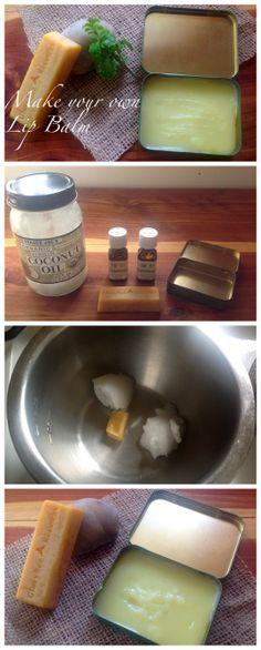 How to Make Your Own Lip Balm ~ Super easy tutorial for homemade Orange Peppermint Lip Balm! www.growforagecookferment.com