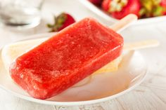 The 50 Healthiest Snacks 1 strawberry frozen fruit bar (90 calories)*  Great summertime treat