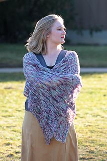 "Lady Sybil's Shawl by Benjamin Krudwig - a Downton Abbey inspired shawl, crocheted in our Downton Abbey exclusive colorway ""It's All Fun and Games"" by Indigodragonfly"
