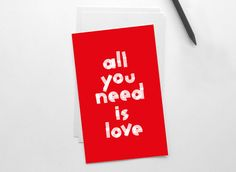 All we need is L O V E ! by Elena on Etsy