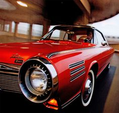 1964 Chrysler Turbine. Chrysler actually loaned out 50 some odd of these prototype cars in 1964 to private individuals, to test drive and report back on.