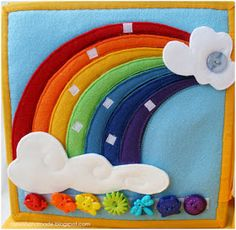 Rainbow color matching. The rainbow color strips are also removable so that you can assemble the rainbow and then also match the cute buttons on