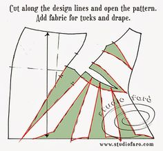 Plan well for these #DrapePattern designs! well-suited: #PatternPuzzle - #TuckedDrape Skirt http://studiofaro-wellsuited.blogspot.com.au/2014/03/pattern-puzzle-tucked-drape-skirt.html