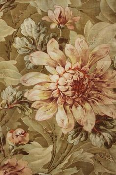 1885 Belle Epoque French printed fabric ~*~ Ideal for classic French interior… Belle Epoque, Gravure Illustration, Floral Vintage, French Decor, French Interior, French Fabric, Shabby, Vintage Textiles, Fabric Wallpaper