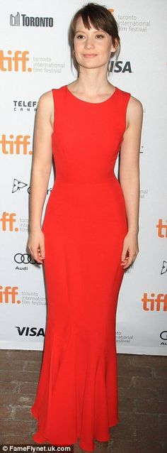 """Mia Wasikowska in Christian Dior for the premiere of """"Only Lovers Left Alive"""" (2013 Toronto International Film Festival)"""