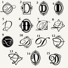 Monogram Letter D