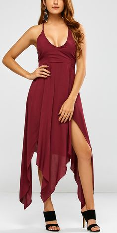 $23.49 Strappy Maxi Hankerchief Dress