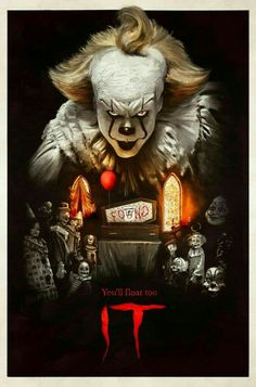 From the acclaimed 2017 horror film IT, drawn from the pages of Stephen King's original novel, NECA and GameStop present the exclusive version of Pennywise in action figure form! Scary Movie Characters, Zombie Movies, Halloween Movies, Scary Movies, Halloween Costumes, Halloween Town, Horror Icons, Horror Movie Posters, Horror Art