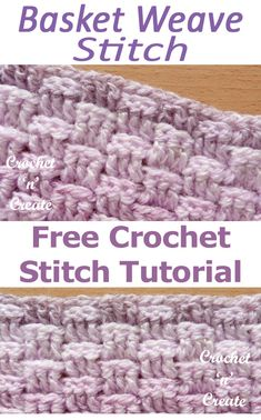 crochet stitches patterns Crochet Stitch Tutorial-Basket Weave Stitch - A free written tutorial on how to crochet the basket weave stitch, this stitch is quite thick textured and warm. It is an ideal stitch for afghans throws, bags, bedspreads etc. Crochet Stitches Free, Crochet Stitches For Beginners, Crochet Motifs, Crochet Diagram, Afghan Crochet Patterns, Crochet Chart, Crochet Basics, Knitting Stitches, Free Crochet