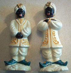 RARE Ceramic Art Studio Madison Wi Black Americana Salt Pepper Set | eBay