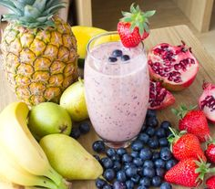 #healthy, #nutritious and #refreshing #summer #fruit #smoothie. Visit www.hayfaglam.com for more.  #food #drinks