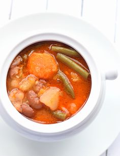 The Best Vegetable Soup Ever – this easy, hearty, tomato-based soup contains loads of vegetables and beans and is the best soup I've ever had! | trufflesandtrends.com