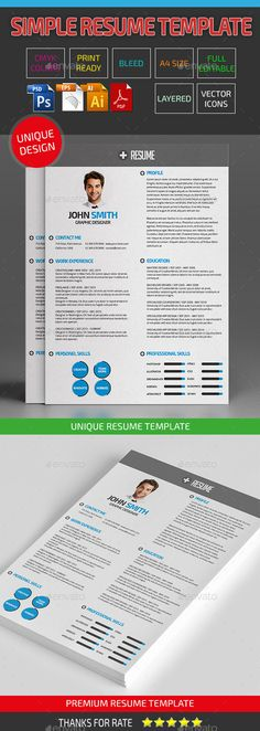 Resume Template, Print templates and Professional resume - advertising resume templates