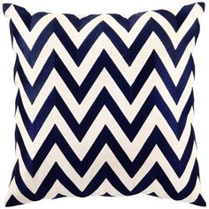 DL Rhein Zig Zag Navy Embroidered Pillow @LaylaGrayce