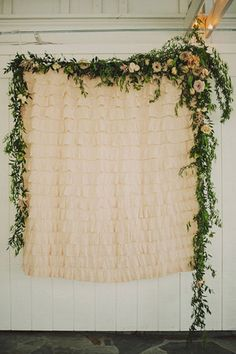 Wedding Cermony Backdrops - Florals - Read more on One Fab Day: http://onefabday.com/indoor-ceremony-backdrops/