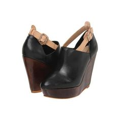 Loeffler Randall Lily Women's Wedge Shoes - Black/Nude