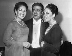 callas il pirata | Con il tenore Giuseppe Di Stefano ed Elizabeth Taylor nel 1973