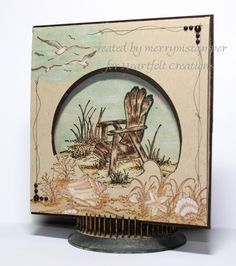 SeaScape Card.  Not really stampin up, but they have similar retired beach stamps