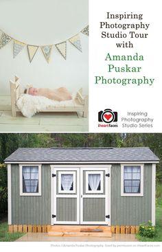 DIY Photography Studio Tour with Amanda Puskar Photography via iHeartFaces.com