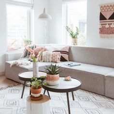 A White Dutch Home With Salmon Pink Accents