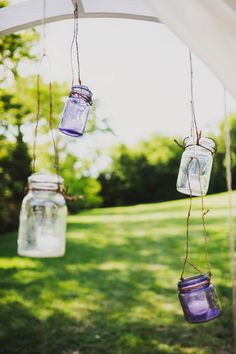 Mason jars. Vintage Farm Wedding for Air Force Couple at Cedarwood | #CedarwoodWeddings