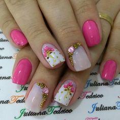 Love Nails, Flower Designs, Nail Designs, Nail Art, Floral, Perfect Nails, Pretty Nails, Gorgeous Nails, Flower Nails