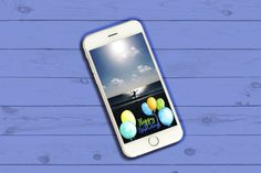 Airballoon Birthday Geofilter by SunsetWatercolors on @creativemarket