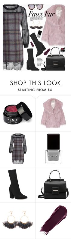 """""""Keep it Cozy: Fuzzy Coats"""" by beebeely-look ❤ liked on Polyvore featuring Henné Organics, Miu Miu, Context, plaid, fauxfur, fauxfurcoats, gamiss and fuzzycoats"""