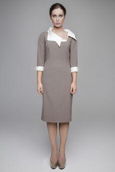 AW12-10001 High Neck Dress, Dresses For Work, Shopping, Fashion, Turtleneck Dress, Moda, Fashion Styles, Fashion Illustrations, High Neckline Dress