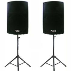 """1 Pair New Karaoke PA Band 12"""" Pro Audio Powered Active Speakers and Stands DJ Set PP1202ASET1 by Podium Pro Audio. $439.99. Specifications12"""" Pro Audio Powered Speaker Set1 Brand New Pair of PP1202A 2-Way Powered Speakers600 Watts RMS per pair & 1200 Watts Max per pairSensitivity is 122dB with 25-20,000 Hz Frequency ResponseHeight 24.75"""" x Width 17"""" x Depth 14.25"""" per Speaker43 Pounds per SpeakerNew Adjustable Speaker StandsAdjustable Height from 44 inches to 58 inchesSafe..."""