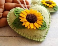 Handmade Felt Home Decor and Embroidered jewelry by DusiCrafts