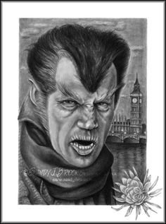 Original Artwork Henry Hull Werewolf Of London Drawing Charcoal Graphite Signed via Etsy