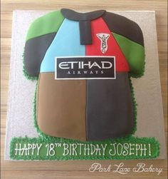 Harlequins rugby shirt birthday cake Soccer Cakes, Guinness Cake, Celebration Cakes, Celebrity Weddings, Rugby, Birthday Cakes, Cake Decorating, Bakery, Park