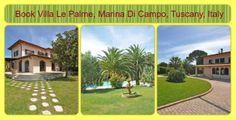 Book Villa Le Palme, Marina Di Campo, Tuscany, Italy