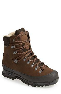 Hanwag 'Alaska Gtx' Hiking Boot (Men) available at Best Hiking Pants, Best Hiking Shoes, Hiking Sandals, Hiking Boots Outfit, Hiking Boots Women, Men Hiking, Hiking Gear, Backpacking Boots, Brown Shoe
