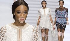 Winnie Harlow cuts an ethereal figure in lacey white gown as she steps out onto the runway for Paris Fashion Week | Daily Mail Online
