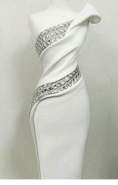 36 Trendy Wedding Reception Dress For Bride Bling Elegant Dresses, Pretty Dresses, Beautiful Dresses, Gorgeous Dress, Elegant White Dress, Beautiful Evening Gowns, Affordable Dresses, Look Fashion, Womens Fashion